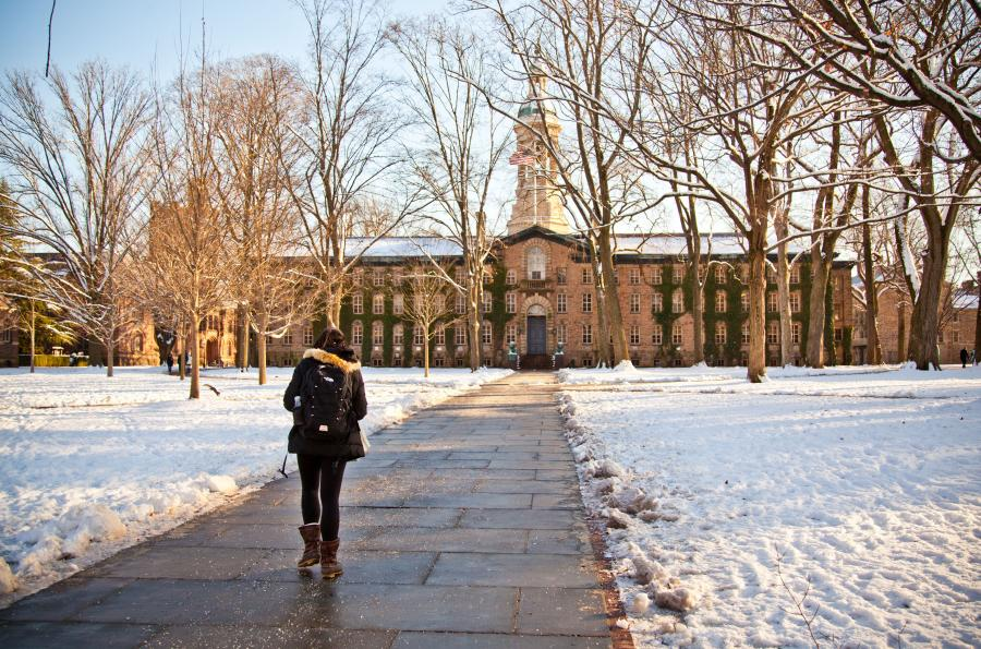 Nassau Hall in Winter